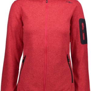 Cmp Woman Softshell Zip Hood Rosso - Franceschi Sport
