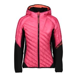 Cmp Woman Hybrid Jacket Fix Hood - Franceschi Sport