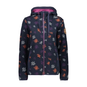 Cmp Woman Jacket Fix Hood blu fantasia fiori - Franceschi Sport