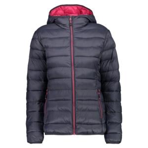 Cmp Woman Jacket Fix Hood Antracite/ciclamino - Franceschi Sport