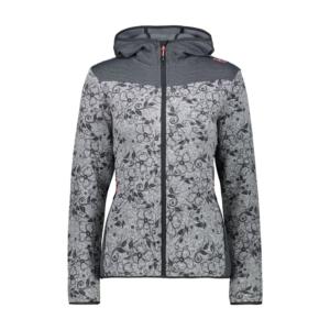Cmp Woman Jacket Fix Hood Fiori Grigio - Franceschi Sport