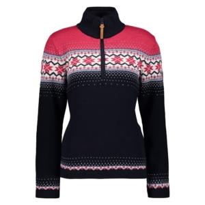 Cmp Woman Knitted Pullover blu/fuxia - Franceschi Sport