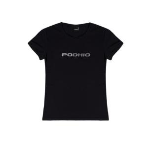 Podhio T-shirt Donna Glitter Nero