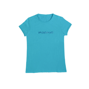 Podhio T-shirt Donna Glitter Turchese